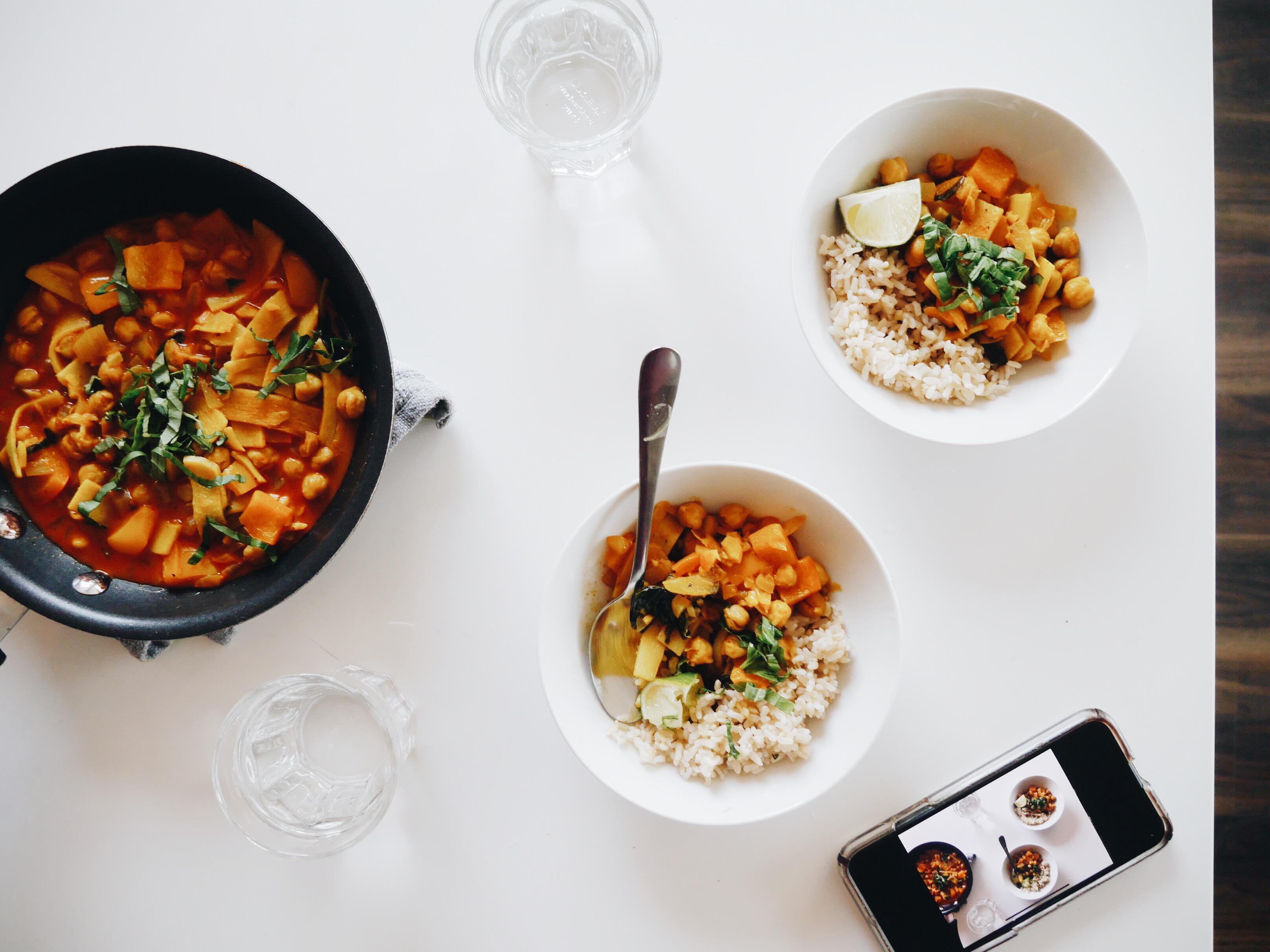 Vegan Coconut Basil Chickpea Curry