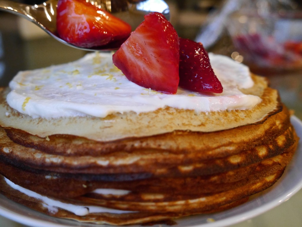 Lemon Ricotta Crepe Cake