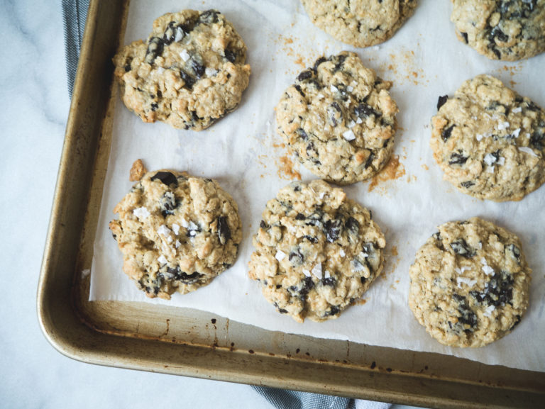 Salted Chocolate Chunk Oatmeal Cookies